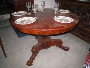DE PEYRECAVE - table guéridon - Runder Esstisch