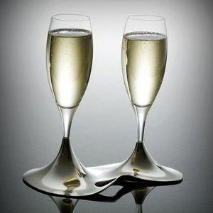 L'orfevrerie d'Anjou - coffret ö 2 flûtes cristal et support - Champagnerkelch