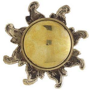FERRURES ET PATINES - bouton avec rosace en bronze style louis xiv - rep - Schubladenknopf