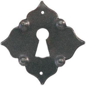 FERRURES ET PATINES - entree de tiroir en fer vieille avec trou de clef  - Schlossbeschlag