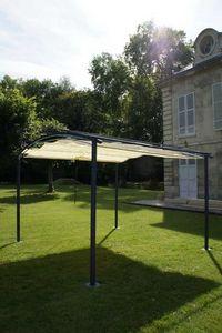 ART & JARDIN - tonnelle deauville en acier bleu marine 3,5x3,5m - Sonnensegel