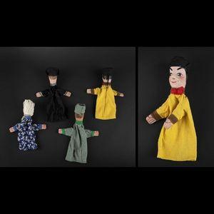 Expertissim - quatre marionnettes à gaines figurant le théâtre l - Puppe