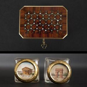 Expertissim - petit coffret à parfums d'époque napoléon iii - Parfumset