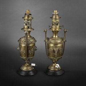 Expertissim - paire de lampes à pétrole - Petroleumlampe