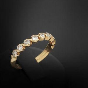 Expertissim - demi-alliance américaine or et diamants - Ring
