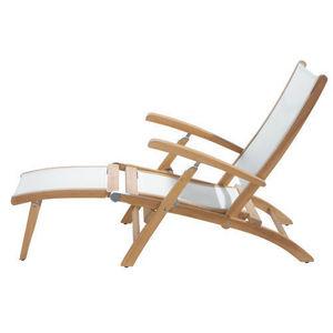 MAISONS DU MONDE - chaise longue blanche capri - Garten Liegesthul