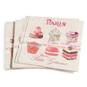 Maisons du monde - serviettes maître pâtissier x20 - Papierserviette