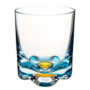 Maisons du monde - gobelet flower bleu-jaune - Whiskyglas