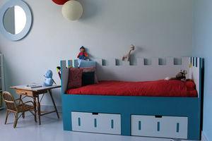 Mie Trampoline - citadelle - Bett Mit Bettkasten