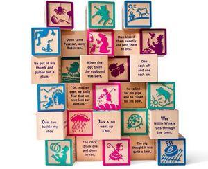 UNCLE GOOSE - nursery rhyme 28 block set - Aufbau Spiel