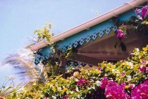 Déco Robinson - fleur - Blechschnitt Zierleiste