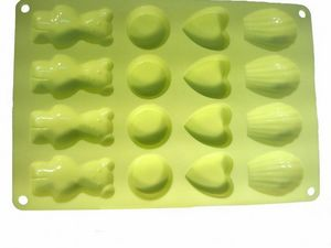 WHITE LABEL - moule 16 biscuits en silicone - Kuchenform