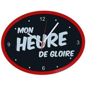 WHITE LABEL - horloge ovale cadre mon heure de gloire - Pendelwanduhr