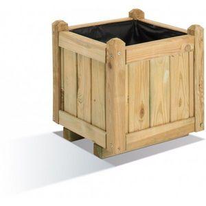 JARDIPOLYS - bac à fleur carre en bois 23 litres jardipolys - Blumenkübel