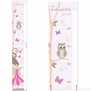 BABY SPHERE - toise bois princesse des fleurs - Messlatte