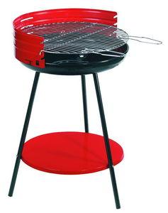 Dalper - barbecue à charbon avec tablette en acier 50x79cm - Holzkohlegrill
