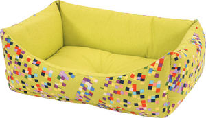 ZOLUX - sofa graffiti vert en tissu et ouate 47x38x19cm - Hundekorb