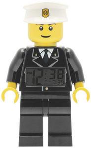 Lego - réveil digital lego policier 23cm avec alarme - Kinderwecker