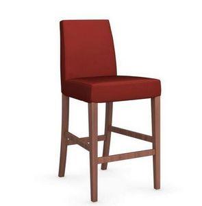Calligaris - chaise de bar latina de calligaris rouge et noyer - Barstuhl