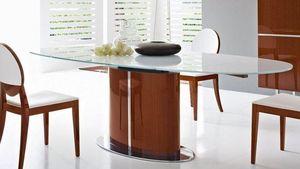 Calligaris - table repas ovale extensible odyssey 165x105 en ve - Ovaler Esstisch
