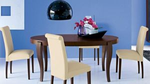 Calligaris - table repas extensible ovale regency wengé 170x100 - Runder Esstisch
