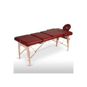 WHITE LABEL - table de massage pliante 3 zones rouge - Massagetisch