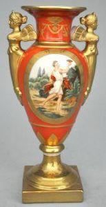 Demeure et Jardin - vase balustre orange empire - Ziervase