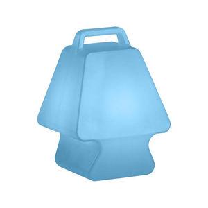Slide - pret-a-porter - lampe baladeuse bleu h37cm | lampe - Tischlampen