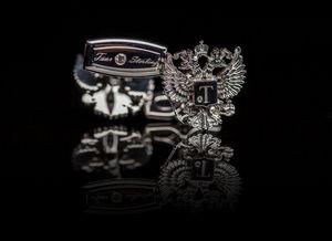 TSAR IMPERIAL - romanov eagle cufflinks - Manschettenknopf