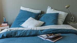 Couleur Chanvre - couleur bleu du sud - Oberbettbezug