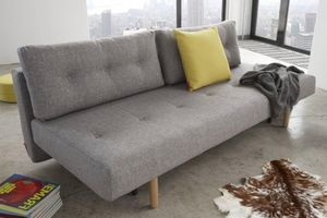 INNOVATION - rhomb canapé design gris convertible lit 140*200 c - Klappsofa