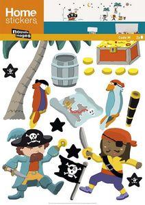 Nouvelles Images - sticker mural bateau et pirate - Kinderklebdekor
