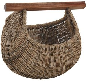 Aubry-Gaspard - panier à coquillages en rotin et bois - Fischerkorb