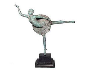 Demeure et Jardin - danseuse style art déco - Kleine Statue