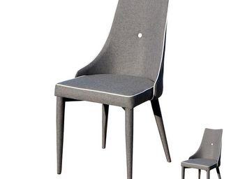 WHITE LABEL - duo de chaises grises - lea - l 51 x l 57 x h 91 - - Stuhl