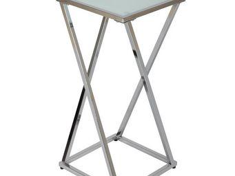 WHITE LABEL - moyenne sellette acier chromé - square - l 30 x l - Schemel