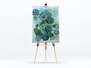 la Magie dans l'Image - toile jardin vert - Digital Foliendruck