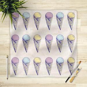 la Magie dans l'Image - foulard glaces pastel - Vierecktuch