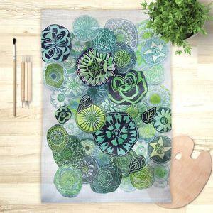 la Magie dans l'Image - foulard jardin vert - Vierecktuch