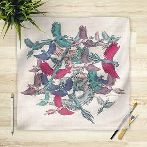 la Magie dans l'Image - foulard oiseaux - Vierecktuch