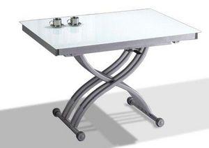 WHITE LABEL - table basse form relevable extensible, plateau en  - Klappbarer Couchtisch