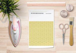 la Magie dans l'Image - papier transfert lotus jaune foncé - Verlegung