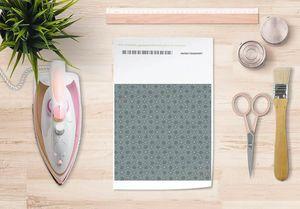 la Magie dans l'Image - papier transfert trefle vert-de-gris foncé - Verlegung