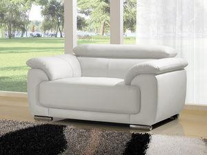 WHITE LABEL - fauteuil cuir marjorie - Sessel