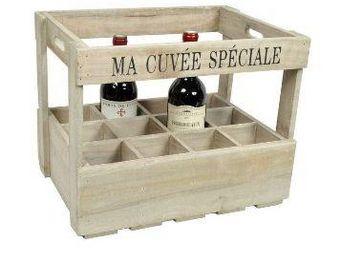 Clementine Creations - caisse 12 bouteilles - Flaschenregal