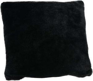 Amadeus - coussin fourrure noir 40x40 - Kissen Quadratisch