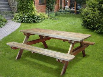 CEMONJARDIN - table de pique-nique bois 4/6 places rambouillet - Picknick Tisch