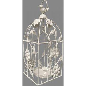 CHEMIN DE CAMPAGNE - cage à oiseau oiseaux à bougie bougeoir porte plan - Gartenlaterne