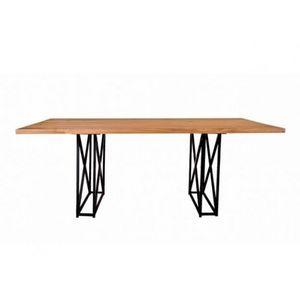 Mathi Design - table de repas métaloft - Rechteckiger Esstisch