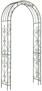 GARDMAN - arche en fer gris blanchi rosalie - Pflanzenbogen